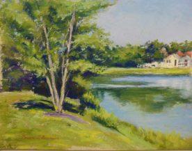 Teresa T. Brunson - BIRCH TREE AT BEACH POND