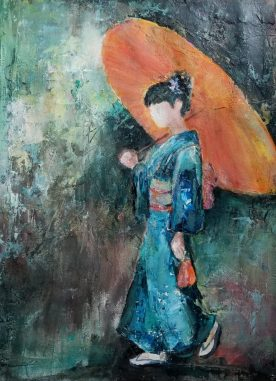 Lynn Martin - Orange Umbrella