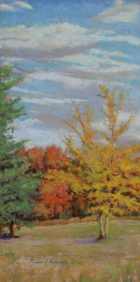 Teresa T. Brunson - PASTEL - AUTUMN TREE LINE