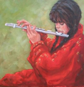 Susan Lawrence Norman - girl playing flute