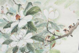 Darlene Kaplan - Magnolia 3 Birds