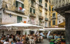 John Young - Lunch and the market Amalfi Style