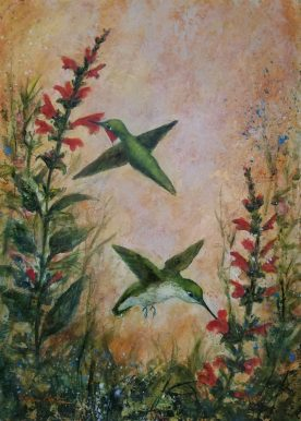 Lynn Martin - Humming Birds & Salvia