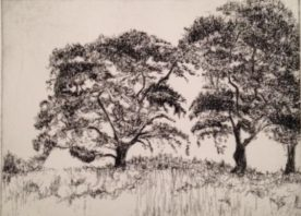 Susan Larimer - Atop The Hill - Etching