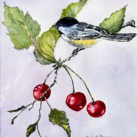 Pat Hafkemeyer - Cherries and Chickadee
